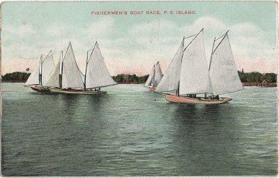 , Fishermen's Boat Race, P.E. Island (1359), PEI Postcards