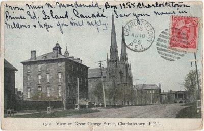 , View on Great George Street (1371), PEI Postcards