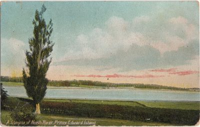 , A Glimpse of North River, Prince Edward Island (1375), PEI Postcards