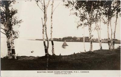 , Boating Near Charlottetown, P.E.I., Canada. (1377), PEI Postcards