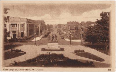 , Great George St., Charlottetown, P.E.I., Canada (1381), PEI Postcards