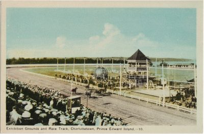 , Exhibition Grounds and Race Track, Charlottetown, Prince Edward Island. (1385), PEI Postcards
