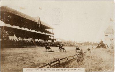 , Exhibition Race Track, Charlottetown, P.E.I. (1384), PEI Postcards