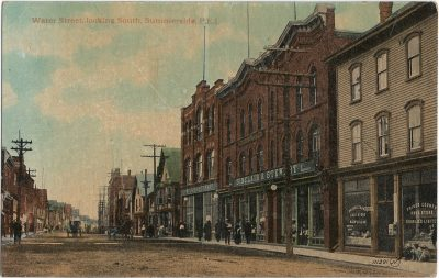, Water Street, looking South, Summerside, P.E.I. (1397), PEI Postcards