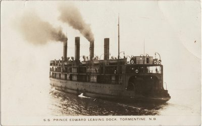 , S.S. Prince Edward Leaving Doc, Tormentine, N.B. (1400), PEI Postcards