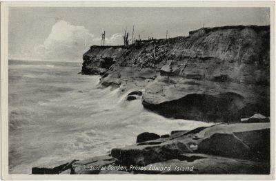 , Surf at Borden, Prince Edward Island. (1432), PEI Postcards