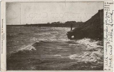 , A Rugged Shore Scene, P.E.I. (1429), PEI Postcards