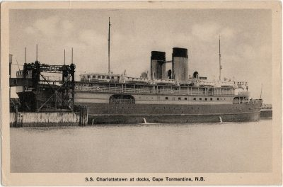 , S.S. Charlottetown at docks, Cape Tormentine, N.B. (1426), PEI Postcards