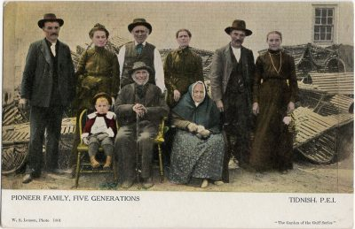 , Pioneer Family, Five Generations Tidnish, P.E.I. {spelling error} (1438), PEI Postcards
