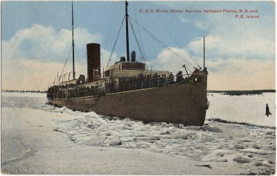 , D.G.S. Minto, Winter Service between Pictou, N.S. and P.E. Island (1422), PEI Postcards