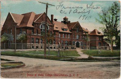, Prince of Wales College, Charlottetown, P.E.I. (1424), PEI Postcards