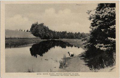 , Dunk River, Prince Edward Island. Canadian National Railways (1412), PEI Postcards