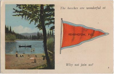 , The beaches are wonderful at Kensington, P.E.I. Why not join us? (1410), PEI Postcards