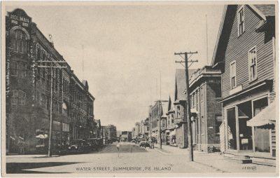 , Water Street, Summerside, P.E. Island. (1403), PEI Postcards