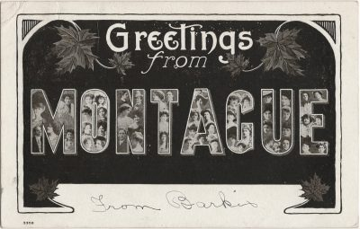 , Greetings from Montague (1402), PEI Postcards