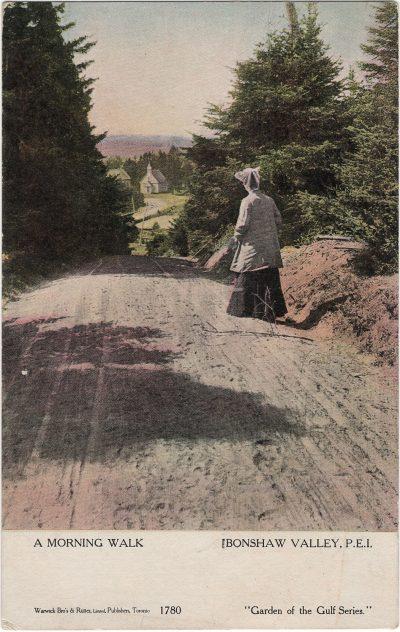 , A Morning Walk Bonshaw Valley, P.E.I. (1434), PEI Postcards