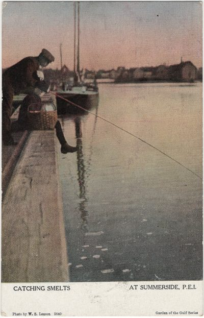 , Catching Smelts at Summerside, P.E.I. (1447), PEI Postcards