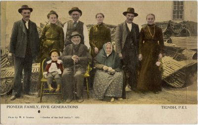 , Pioneer Family, Five Generations. Tignish, P.E.I. (1442), PEI Postcards