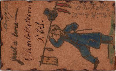 , Just a line. Charlottetown P.E.I. Leather. (1459), PEI Postcards