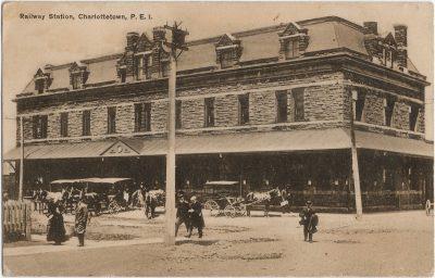 , Railway Station, Charlottetown, P.E.I. (1445), PEI Postcards