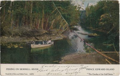 , Fishing on Morrell River, Prince Edward Island (1469), PEI Postcards