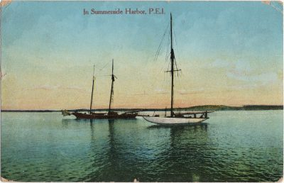 , In Summerside Harbor, P.E.I. (1474), PEI Postcards