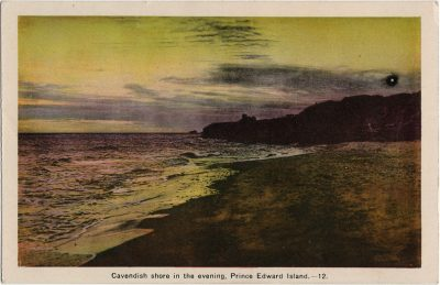 , Cavendish shore in the evening, Prince Edward Island. (1483), PEI Postcards