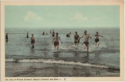 , On one of Prince Edward Island's famous sea beaches. (1484), PEI Postcards