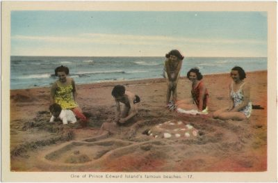 , One of Prince Edward Island's famous beaches. (1485), PEI Postcards