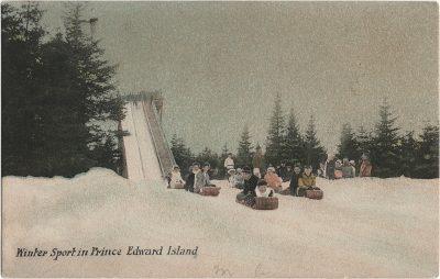 , Winter Sport in Prince Edward Island (1476), PEI Postcards
