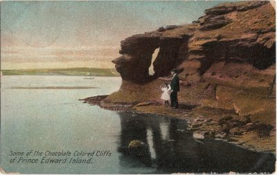 , Some of the Chocolate Colored Cliffs of Prince Edward Island. (1477), PEI Postcards