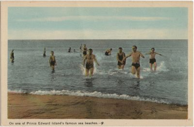, On one of Prince Edward Island's famous sea beaches. (1491), PEI Postcards