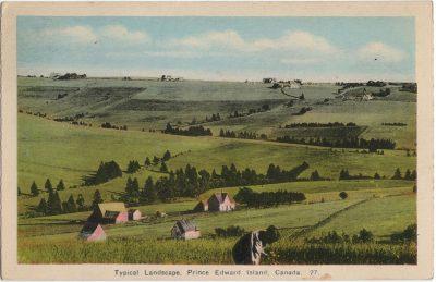 , Typical Landscape, Prince Edward Island, Canada. (1495), PEI Postcards