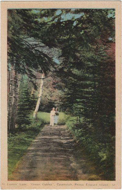 ", In Lover's Lane, ""Green Gables"", Cavendish, Prince Edward Island. (1518), PEI Postcards"