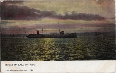 , Sunset on Lake Ontario (1519), PEI Postcards