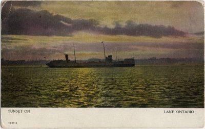 , Sunset on Lake Ontario (1520), PEI Postcards