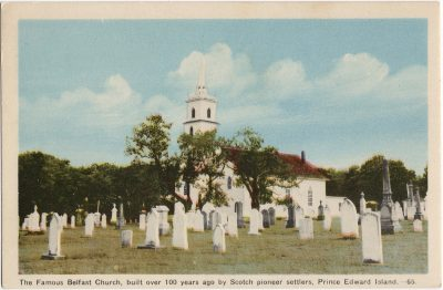 , The Famous Belfast Church, built over 100 years ago by Scotch pioneer settlers, Prince Edward     Island. (1511), PEI Postcards