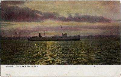 , Sunset on Lake Ontario (1521), PEI Postcards