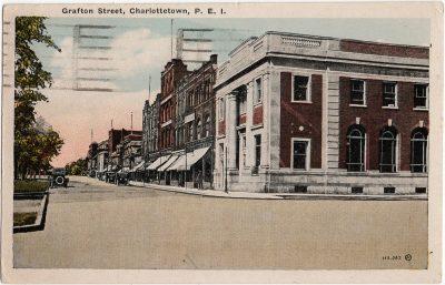 , Grafton Street, Charlottetown (1512), PEI Postcards