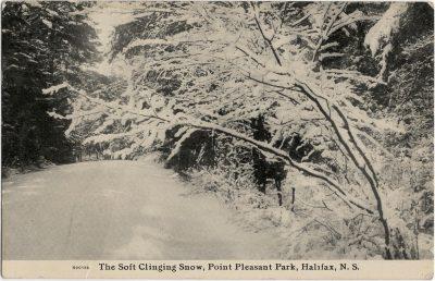 , The Soft Clinging Snow, Point Pleasant Park, Halifax, N.S. (1527), PEI Postcards