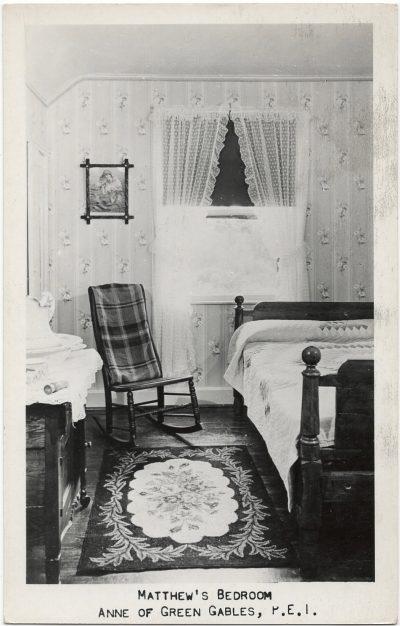 , Matthew's Bedroom, Anne of Green Gables, P.E.I. (1535), PEI Postcards