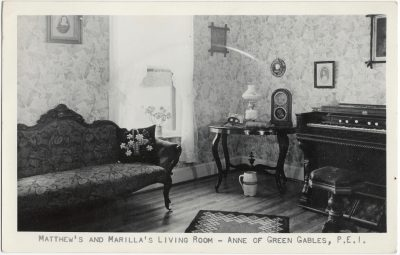 , Matthew's and Marilla's Living Room – Anne of Green Gables, P.E.I. (1541), PEI Postcards