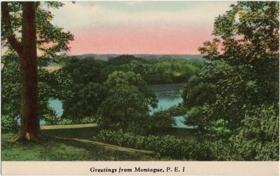 , Greetings from Montague, P.E.I. (1514), PEI Postcards