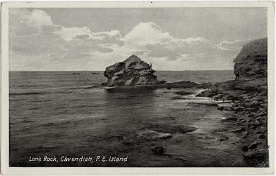 , Lone Rock, Cavendish, P.E. Island (1555), PEI Postcards