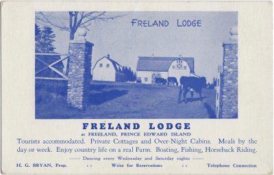 , Freland Lodge at Freeland, Prince Edward Island (1563), PEI Postcards
