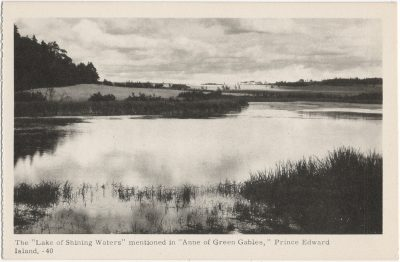 """, The """"Lake of Shining Waters"""" mentioned in """"Anne of Green Gables,"""" Prince Edward Island. (1569), PEI Postcards"""
