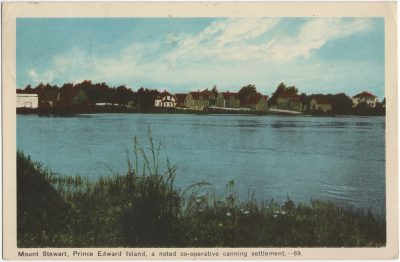 , Mount Stewart, Prince Edward Island, a noted co-operative canning settlement. (1571), PEI Postcards