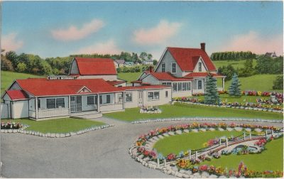 , Sandy's Restaurant and Theatre under the Stars on Route No. 6, Marshfield – St. Peter's Highway. (1573), PEI Postcards