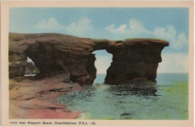 , Rock near Keppoch Beach, Charlottetown, P.E.I. (1576), PEI Postcards