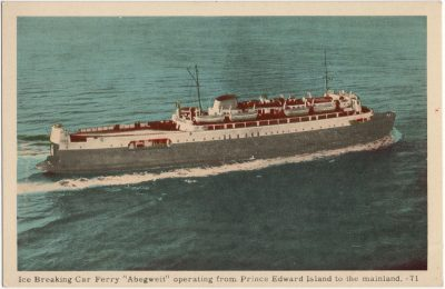 ", Ice Breaking Car Ferry ""Abegweit"" operating from Prince Edward Island to the mainland. (1577), PEI Postcards"